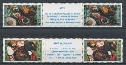 POLYNESIE N° 278A/279A** Neufs = MNH Superbes Non Pliées Cuisine Plats Ingrédients Po E Fafa Poulet Restauration - French Polynesia