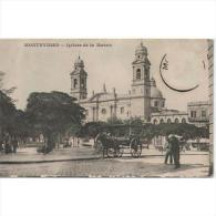 SDMTP0671C-LFTD753TTSCTAR JETA POSTAL DE URUGUAY.Iglesia De La Matriz.MONTEVIDEO.coche De Caballos. - Postales