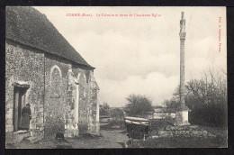 CPA. Dépt.27. CORBIE. Le Calvaire Et Reste De L'Ancienne Eglise. (Petite Animation,Voiture) - Autres Communes