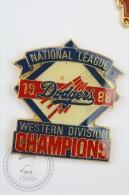 1988 National League Dodgers Western Division Champions - Pin Badge #PLS - Béisbol