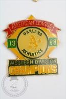 1988 American League Oakland Athletics Western Division Champions - Pin Badge #PLS - Béisbol
