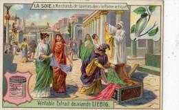 LIEBIG SERIE LA SOIE 3 MARCHANDS  DE SOIERIES DANS LA ROME ANTIQUE - Liebig