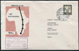 1962 Germany Kenya Lufthansa Frankfurt - Nairobi Erstflug Brief First Flight Cover - Kenya (1963-...)