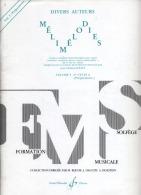 FORMATION MUSICALE - SOLFEGE - Melodies -  Volume 3 -  2ème Cycle A Preparatoire - Enseignement Jean Clement JOLLET - Aprendizaje