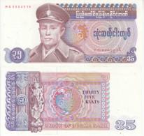 BURMA 35 KYATS 1986 FDS UNC - Myanmar