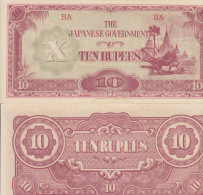 BURMA 10 RUPEES 1942 JAPANESE GOVERNMENT OCCUPATION - Myanmar