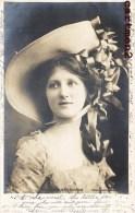 MISS NINA SEVENING ACTRESS SINGER  ARTISTE COMEDIENNE SPECTACLE THEATRE 1900 WOMAN HAT FEMME CHAPEAU - Entertainers