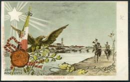 Italy Cavalleggieri Lodi Cavalry Patriotic Postcard - Patriotic