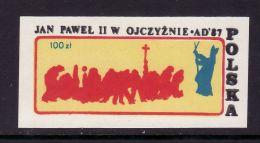 POLAND SOLIDARNOSC - 1987 POCZTA SOLIDARNOSC - POPE JP II - Solidarnosc-Vignetten