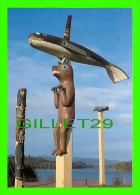 ALASKA - VILLAGE OF TUXEKAN - TOTEM POLES - PHOTO, FRED HIRSCHMANN - - United States