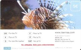 """TARJETA DE ISERN DE UN PEZ CON """"NO UTILIZABLE. SOLO PARA COLECCIONISTAS"""" (RARA) FISH - Emissions Basiques"""