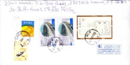 CHINA COMMERCIAL COVER 2006 - POSTED FROM BEIJING FOR BHUTAN, USE OF DIFFERENT COMMEMORATIVE POSTAGE STAMPS - 1949 - ... People's Republic