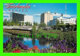 FAIRBANKS, ALASKA  - SCENIC VIEW OF DOWNTOWN CITY & CHENA RIVER - ARTIC CIRCLE ENTREPRISES - - Fairbanks