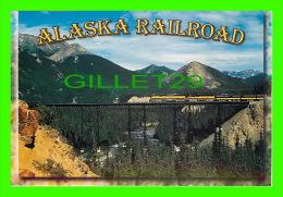 DENALI, ALASKA  -THE ALASKA RAILROAD TRAIN CROSSING RILEY CREEK  - ARTIC CIRCLE ENTREPRISES - - Other