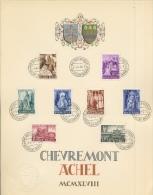 5 Paires De Souvenirs  Abbayes D´ACHEL Et CHEVREMONT   Avril 1948  Cote 380 Euros - Brieven En Documenten