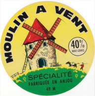 Etiquettes De Fromage. Moulin à Vent.  Anjou (49).   Neuve - Fromage