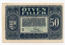 Hongrie Hungary Ungarn 50 Filler 1920 UNC # 2 - Hungary