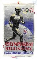 ECUSSON TISSU BRODE JEUX OLYMPIA HELSINKI 1952 - Habillement, Souvenirs & Autres