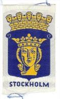 ECUSSON TISSU BRODE STOCKHOLM - Habillement, Souvenirs & Autres