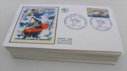 Lot 46 Enveloppes Premier Jour Soie Année 1969 - Croix Rouge  Aviation Europa Concorde Marianne - 1960-1969