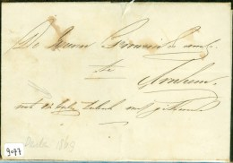 HANDGESCHREVEN BRIEF Uit 1869 Van DRUTEN ANNEX 12 BALEN TABAK Naar FROWEIN Te ARNHEM (9077) - Periode 1852-1890 (Willem III)
