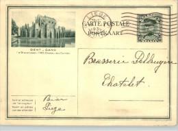 080298 ALBERT- POSTAL CARD GENT-GAND (´S GRAVEMSTEEM.1180.CHATEAU DE COMTES - LIEGE//LUIK 1930  [NORMAL WEAR] - Postcards [1909-34]
