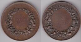 MEDAILLE - Jeton EXPOSITION HORTICOLE DE BAYEUX 1880 ATTRIBUEE En Bronze, Diamètre 56 Mm (voir Scan) - Professionals / Firms