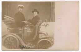 Carte Photo - Photo-montage, Surréalisme - Fausse Automobile, Photographe Berlin - Passage Laden 15 - 2 Scans - Photographs