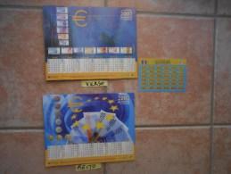 almanach la poste 2002 - lavigne - d�cor l�EURO  + cadeau une carte visiomatic francs/euros  (voir descriptif et photos)