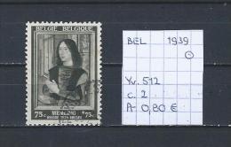 België 1939 - Yv. 512 Gest./obl./used - Gebraucht