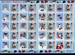 GREAT BRITAIN - 2003  WINTER ROBIN  GENERIC SMILERS SHEET PERFECT CONDITION - Fogli Completi