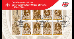 Malta 2014 - Grandmasters Of The Sovereign Military Order Of Malta (1530-1798) Special Folder - Malta