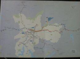 Transit Map Sao Paulo, Brazil - Metro - U Bahn - Tram / Tramway / Strassenbahn - World