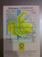 Transit Map Liverpool / United Kingdom - Metro - U Bahn - Tram / Tramway / Strassenbahn - World