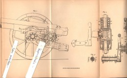 Original Patent - Axel Bremberg In Hillhead B. Glasgow , 1904 , Straightening Machine For Gun , Cannon , Scotland !!! - Documents