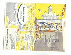 PLAN DE LA VILLE HELSINKI 1951-1952 Pour Les JEUX OLYMPIA - Livres