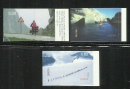 NORWAY NORGE NORVEGIA NORVEGE 2004 EUROPA Bicyclist In Moskenes Kayaker On Oslo Fjord Hikers Crossing Stygge Glacier MNH - Unused Stamps