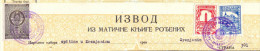 EX YU. Fiscal Revenue Tax Stamps On Document. State´s And Zrenjanin Municipal´s Stemp. 1958. - 1945-1992 Socialistische Federale Republiek Joegoslavië