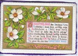 VICTORIAN  ERA  1870´s   CHRISTMAS  CARD   PADDED - Mechanical