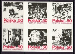 POLAND SOLIDARNOSC - 1987 POCZTA SOLIDARNOSC - ARMIA KRAJOWA  MS MNH - Solidarnosc-Vignetten