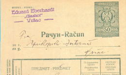 Kingdom YU. Fiscal  Imprinted Revenue Tax Stemps On Factura Document  . 1934. - Brieven En Documenten