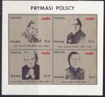 POLAND SOLIDARNOSC - 1987 POCZTA SOLIDARNOSC - POLISH PRIMATE MS  MNH - Solidarnosc-Vignetten