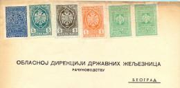 Kingdom YU. Fiscal Revenue Tax Stemps On Railway Kraljevo Dokument. 1941. - 1931-1941 Kingdom Of Yugoslavia