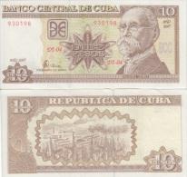 2007. AF47. CUBA UNC 10 PESO 2007 . MAXIMO GOMEZ. PERFECT UNC.