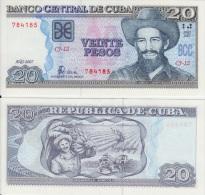 2007. AF51. CUBA UNC 20 PESOS 2007. CAMILO CIENFUEGOS. PERFECT UNC.