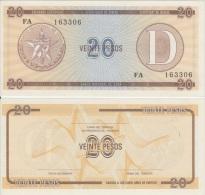 1985-BK-112 CUBA EXCHANGE CURRENCY 1985 20$ . D. UNC - Cuba