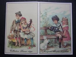 Calendrier petit format : Chicor�e LEROUX - Collection Leroux 1890 - Imagerie Leroux du pass� - Couples d�Enfants