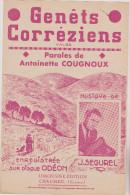 (GB)genets Correziens , J SEGUREL , Paroles : ANTOINETTE COUGNOUX - Scores & Partitions