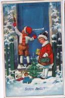 AK WEIHNACHTEN KINDER Geschenke Und Spielzeug SIGNIERT KARTE : J.K.  Nr. 547.   ALTE POSTKARTEN 1938 - Weihnachten