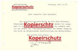 Brief Von Auto Union AG , Werk Zschopau , Rennabteilung An Carl Schröder , Bergring Teterow , Bergringrennen 1935 !!! - Motorräder